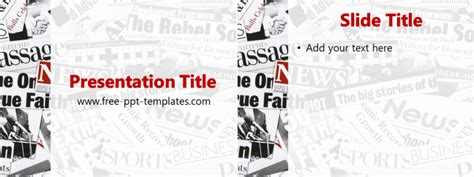 Newspaper Ppt Template Free Powerpoint Templates Powerpoint Newspaper
