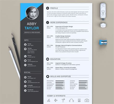 graphic design resume templates word 50 best resume templates for word that look like photoshop designs