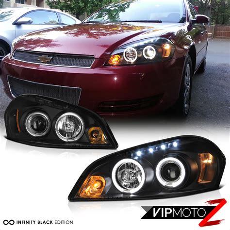 2006 impala headlight 2006 2013 chevy impala halo led black projector headlight