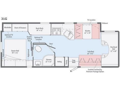 Class A Motorhome Floor Plans minnie winnie class c motor homes