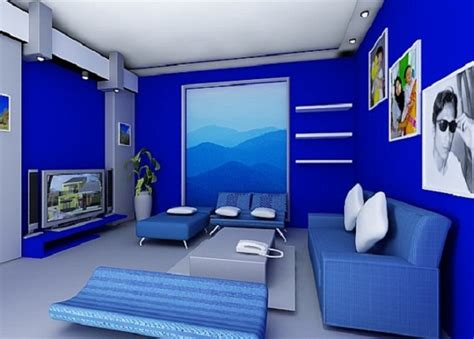 blue room colors modern living room with blue color dands