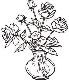 Flowers In Vase Coloring Pages Dessin Bouquet De Fleurs Az Coloriage