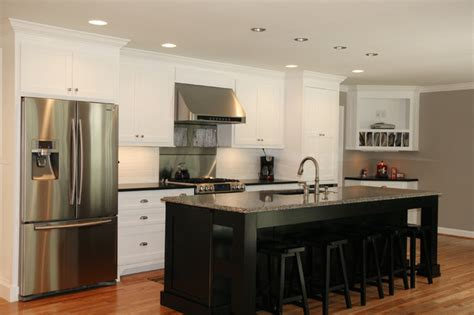 black and white traditional kitchen a classic black and white kitchen traditional kitchen atlanta by rogers renovations