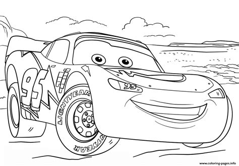 lightning mcqueen from cars 3 2 disney coloring pages