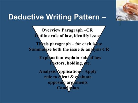 deductive pattern paragraph exles deductive reasoning and irac
