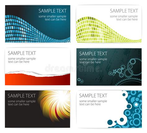 caricature business card templates collection of modern business card templates stock vector