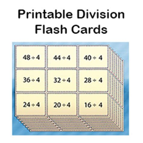 printable flash cards multiplication and division free division flash cards for kids printable pdf