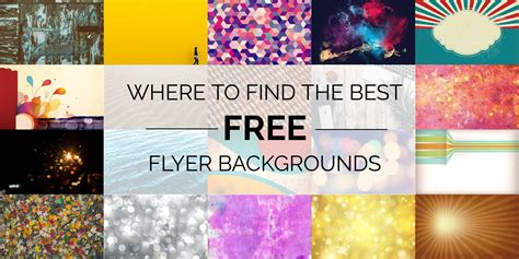 where to find the best free flyer backgrounds