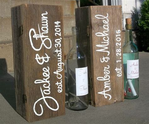 Wedding Box With Wine And Letters by Best 25 Wedding Wine Boxes Ideas On Wine