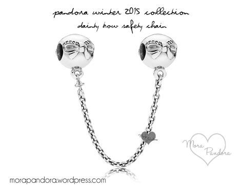 review dainty bow clip safety chain from pandora winter