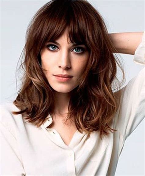 hairstyles bob and lob 20 different long bob with bangs lob haircut and
