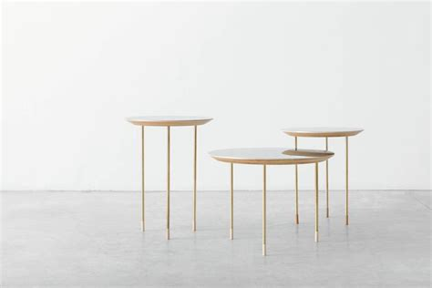 Limited Edition Kaki Sofa 10 Cm Bulat Aluminium 391 serie of 3 side tables small family growing numebered edition by veruska gennari for sale at 1stdibs