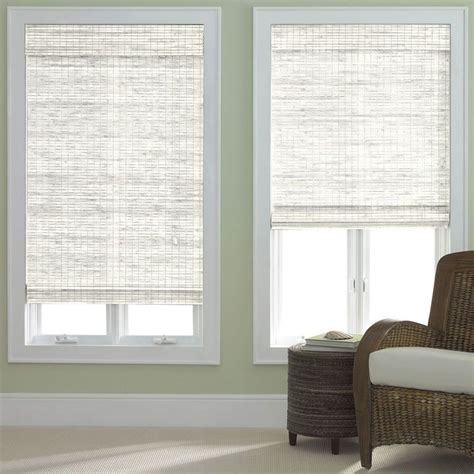 drapes over woven roman shades for the home pinterest 1000 images about elegant window treatments on pinterest