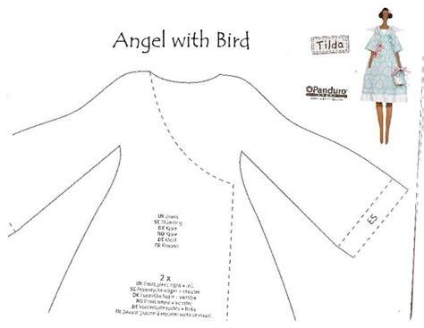 moldes tilda boneca tilda angel with bird com pap diy e moldes