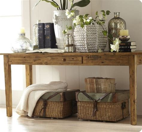 Ideas For Console Table With Baskets Design Remodelaholic 25 Ways To Decorate A Console Table
