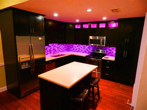 Installing Backsplash Kitchen by How To Install Color Changing Led Lighting Youtube