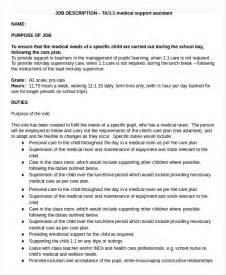 assistant description 8 free word pdf documents free premium templates