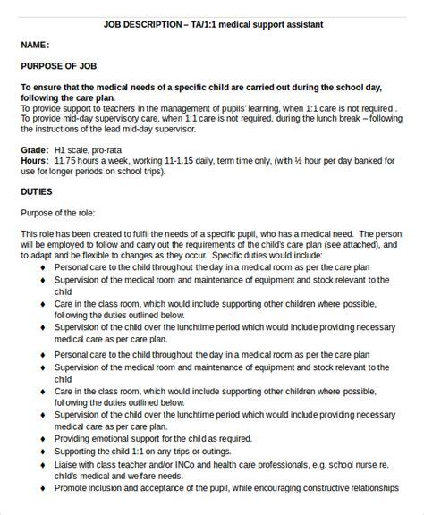 medical assistant job description 8 free word pdf