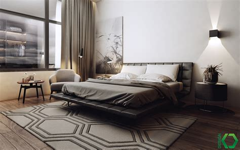 contemporary bedrooms by koj trendy apartment decorating ideas with modern black and