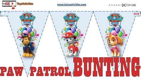printable party decorations paw patrol party supplies paw patrol party flags