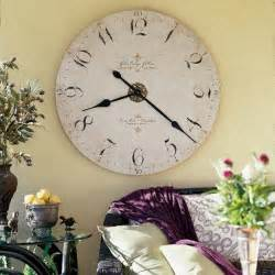 Unique metal clock adding vintage style to modern interior decorating