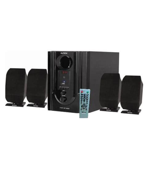 compare intex 301 n fmu 4 1 speaker system price in india