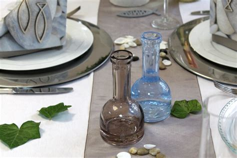 tischdeko hochzeit braun 2x blumenvase vase blau braun hochzeit kommunion