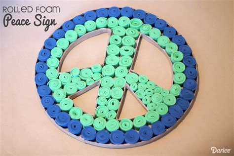 peace crafts for diy peace sign room decor darice