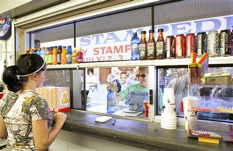 concession workers stay busy at rodeo people