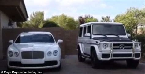 floyd mayweather white cars collection floyd mayweather post of his white car collection