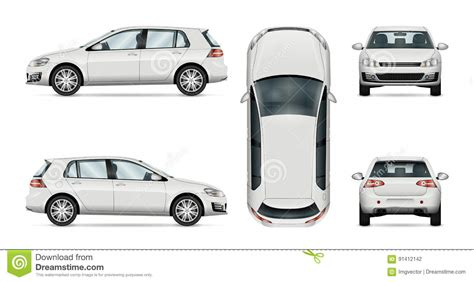 hatchback car vector template on white background stock