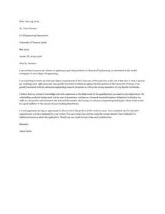 adjunct professor cover letter sle cover letter for