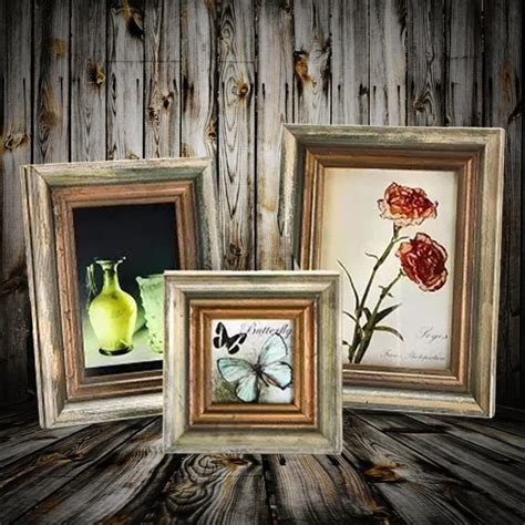 home window decor retro wood frames artifacts wall window decor wooden frame