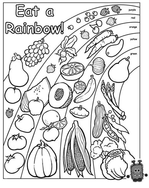 printable coloring pages healthy habits eat a rainbow preschool teaching resources health