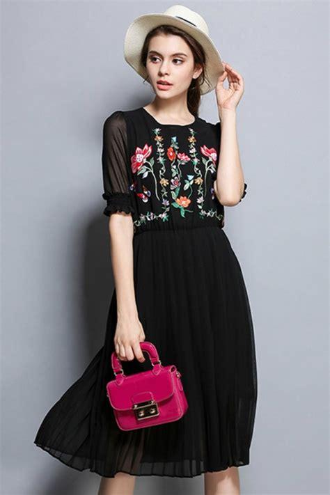 Gaun Dress Zara Putih Motif Bunga dress chiffon import dress cantik wanita floral
