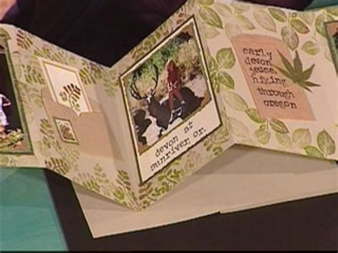 How To Make A Paper Scrapbook - how to make an accordion scrapbook with sted foliage hgtv