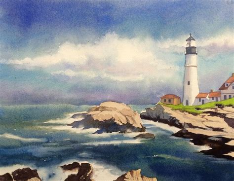watercolor tutorial beach 244 best images about watercolor beach lakes lighthouses