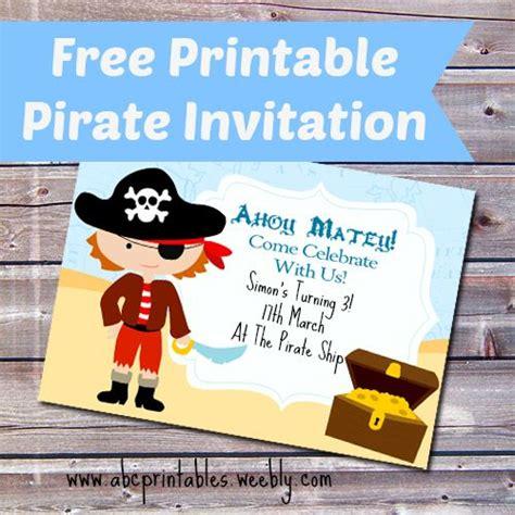 printable birthday card pirate 14 best free printable birthday party invitations