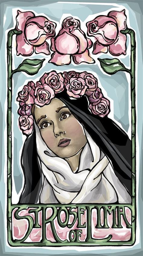 coloring pages of saint rose of lima st rose of lima prayer card florists art and jewelry