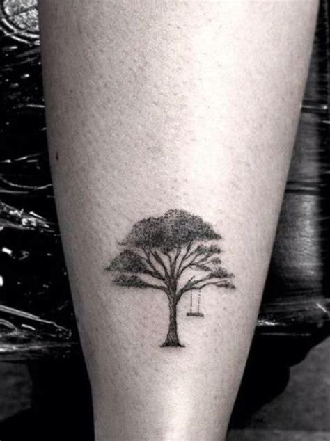 small willow tree tattoo small oak tree tatto on back leg