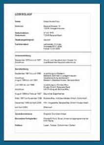 Lebenslauf Vorlage Schüler 2015 8 Tabellarischer Lebenslauf Vorlage Sch 252 Ler Resignation Format