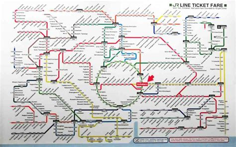 lines map jr line map map travel holidaymapq