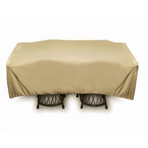Patio Table Covers Square Two Dogs Designs 96 In Khaki Square Patio Table Set Cover 2d Pf96965 The Home Depot