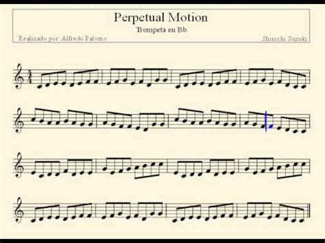 Perpetual Motion Suzuki Partitura Perpetual Motion Trompeta En Bb