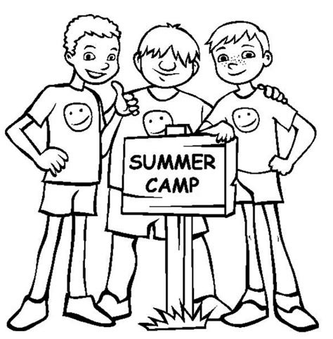 printable summer camp coloring page coloringpagebook com