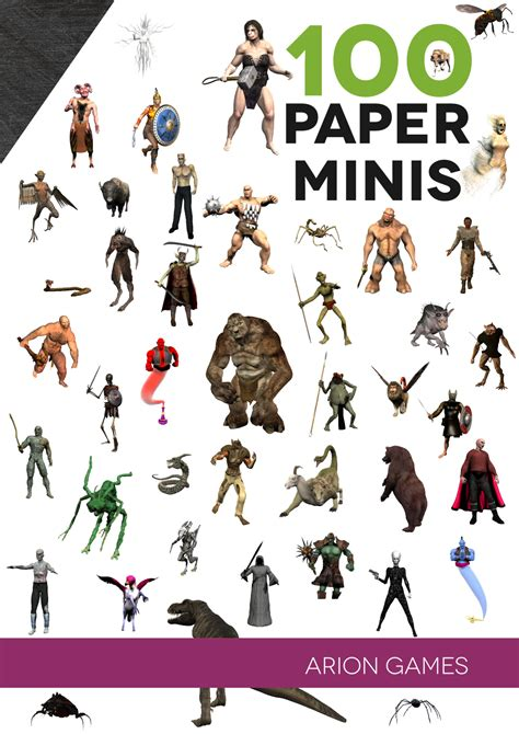 How To Make An Rpg On Paper - 100 paper minis finished cover 6d6 rpg