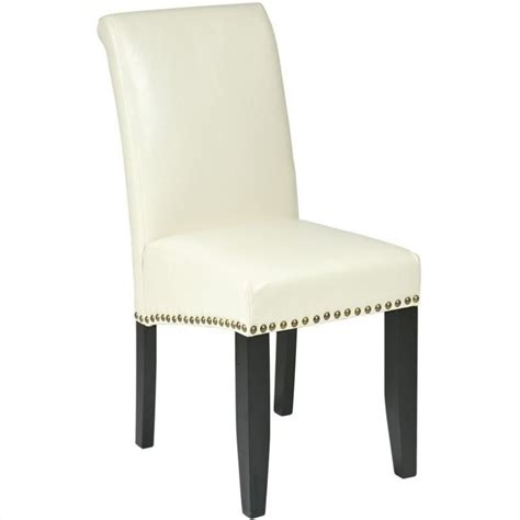 Leather Dining Chairs With Nail Heads Metro Parsons Nail Dining Chair In Met87cm