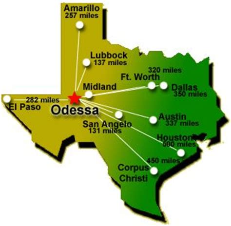 map of odessa texas midland texas location map midland texas brochure elsavadorla