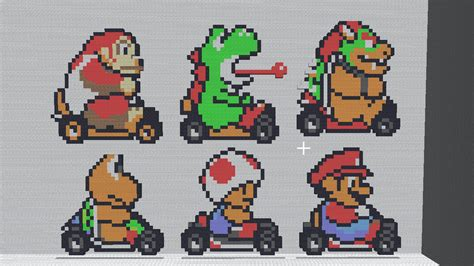 super mario pixel art by sullyvancraft on deviantart minecraft mariokart by shadex00x on deviantart