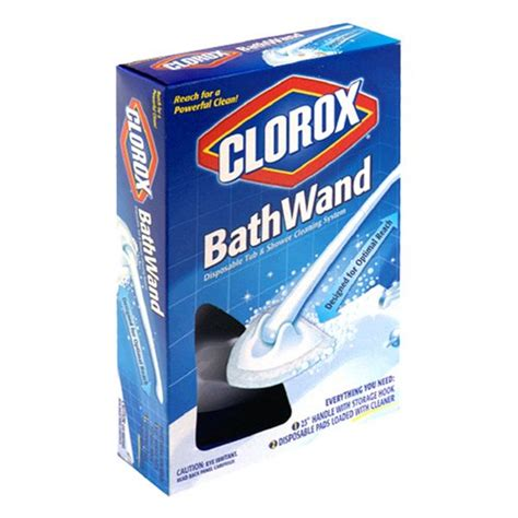 amazon cleaning products clorox bathwand disposable tub shower cleaning system 1